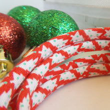 Holiday Shoelaces. Tiny Christmas Tree Shoestrings. Festive Fashion