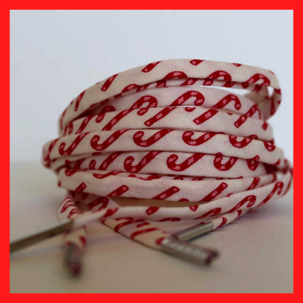 Candy Cane Shoelaces Holiday Christmas shoe strings laces