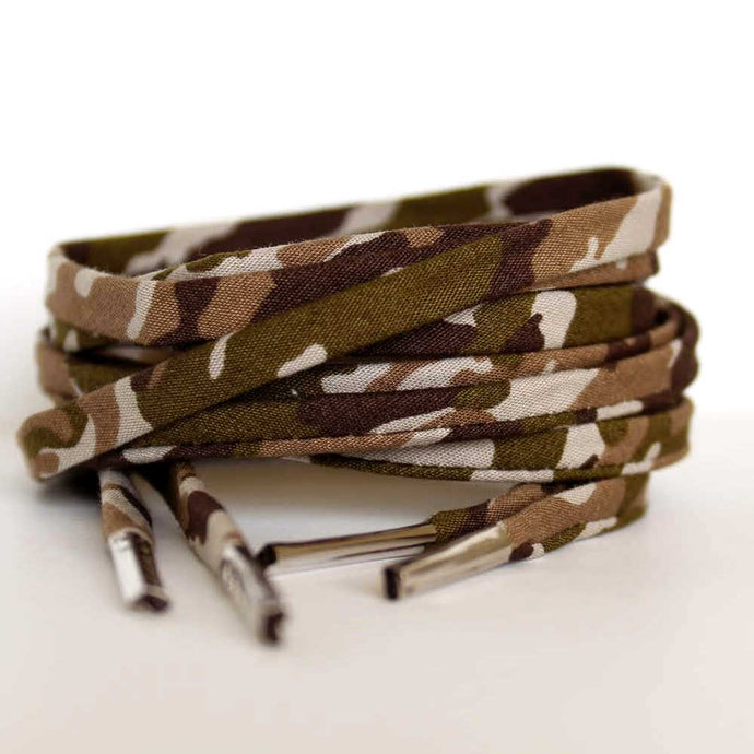 Camouflage Shoelaces - Shoestrings Covered in Camo Print