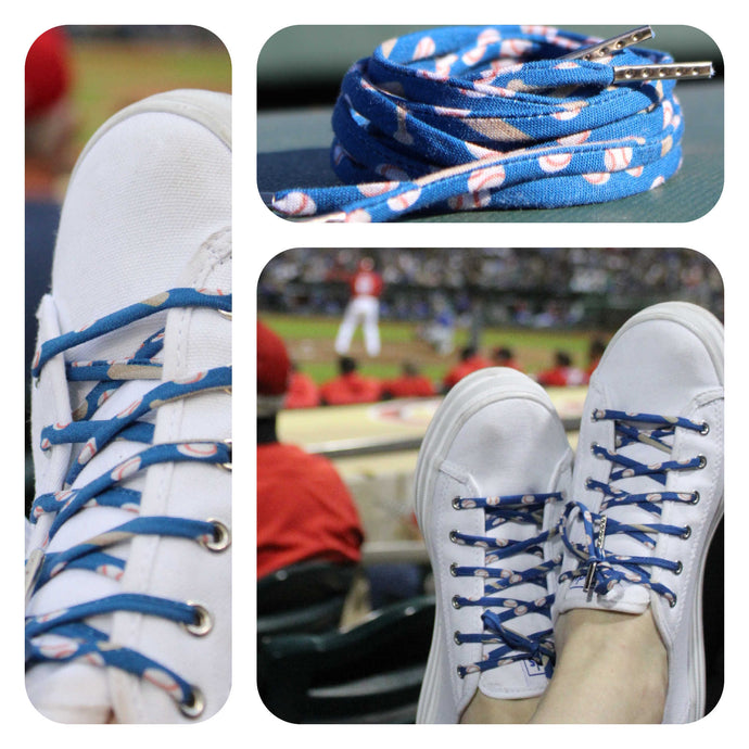 Baseball Shoelaces with Metal Tips