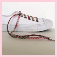 Coral and Pink Boho Chic Shoelaces