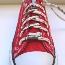 Shoelaces Covered in Newpaper Print - Perfect Gift for a Writer, Book Worm and Blogger