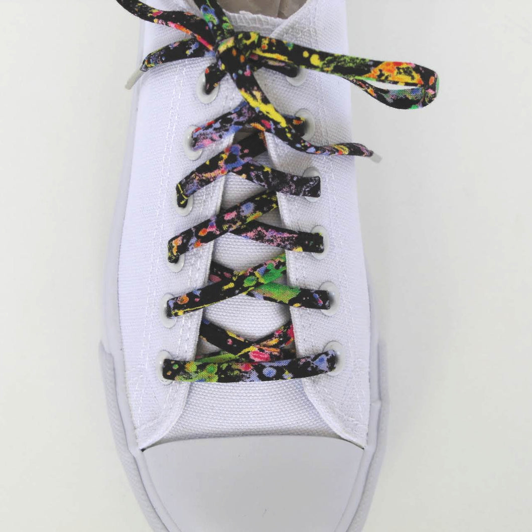 Paint Splatters Shoelaces with Metal Tips