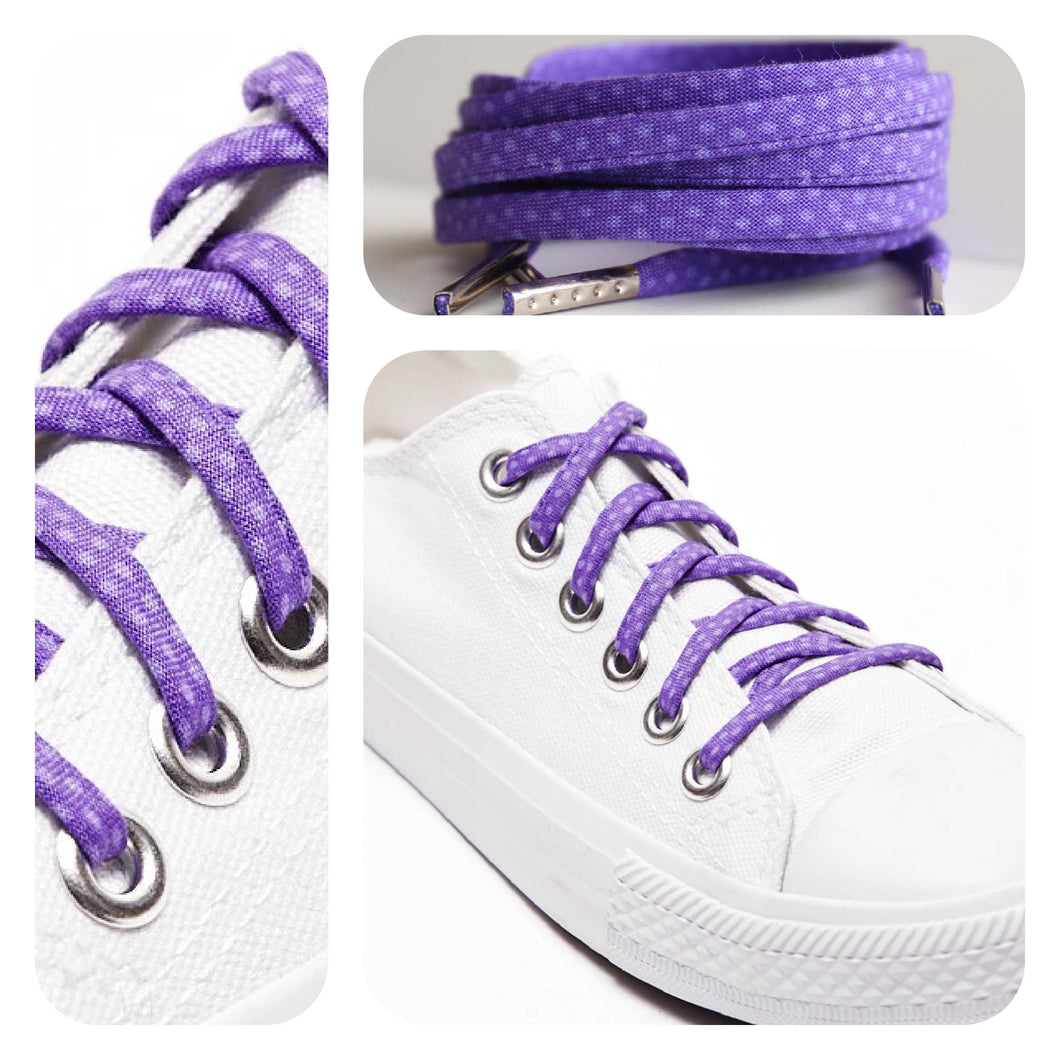 Purple Polka Dots Shoelaces