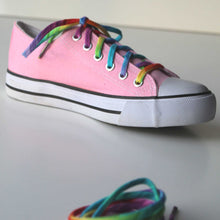 Rainbow laces on pink chucks shoelaces shoestrings