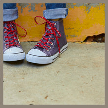 high top converse red bandana