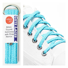 shoe-laces-aqua-polka-dot-custom-funky-shoelaces-white-converse