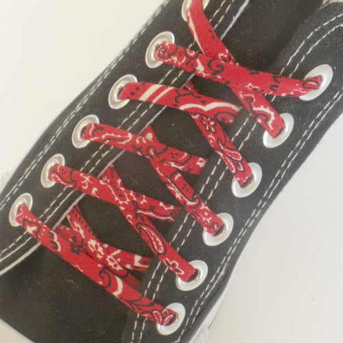 red bandana shoe laces