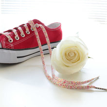 floral flowers shoelaces shoe and roses