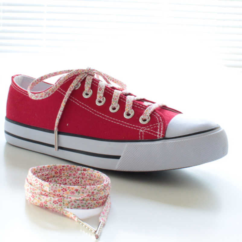 floral shoelaces for converse weddings