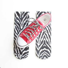 zebra animal print socks shoelaces converse