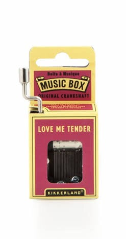 Caja musical Love me Tender