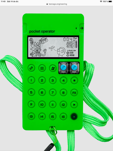 Pocket Operator Case CA-X (Verde)