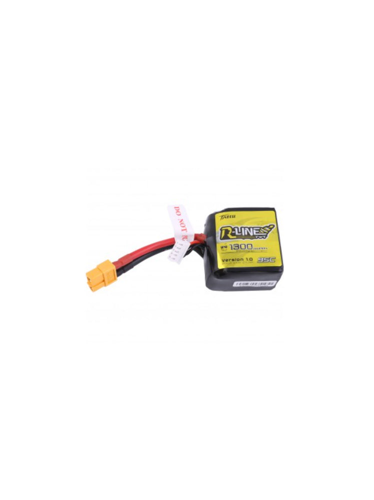 Tattu R-Line 1300mAh 95C 4S1P Square lipo battery pack with XT60 Plug - DroneRacingParts.com