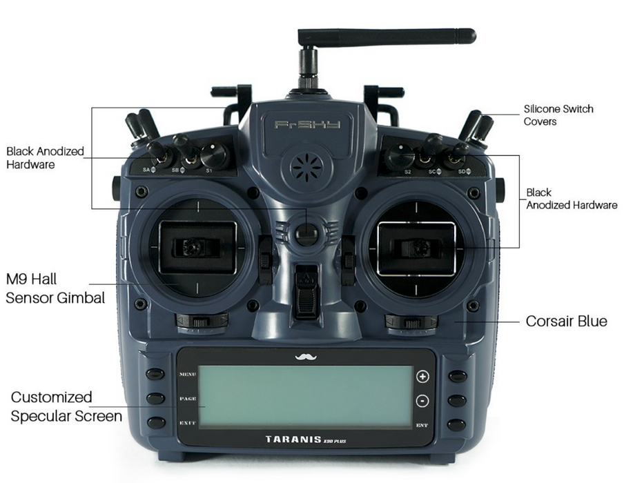 FrSky Taranis X9D Plus Radio Mr. Steele Edition-DroneRacingParts.com-FrSky