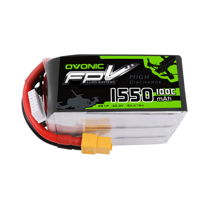 Ovonic 22.2V 1550mAh 6S 100C LiPo Battery Pack With XT60 - DRP