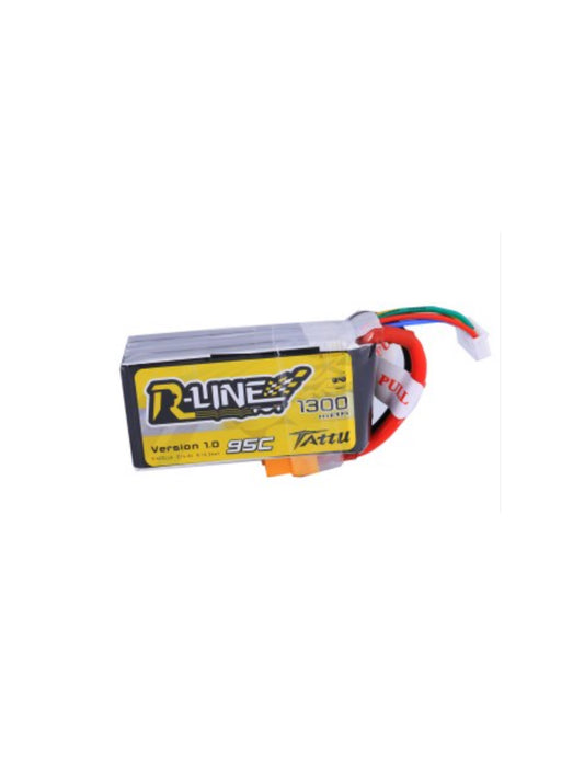 Tattu R-line 1300mah 95C 4S1P Fpv Racing Battery with XT60 Plug - DroneRacingParts.com