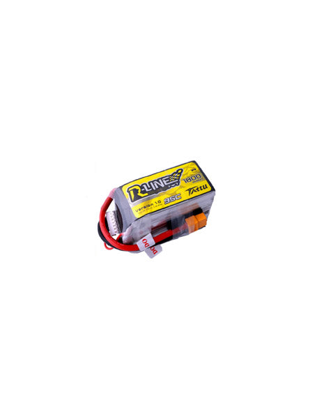 TATTU R-LINE 1800MAH 6S 95C LIPO BATTERY WITH XT60 PLUG - DroneRacingParts.com