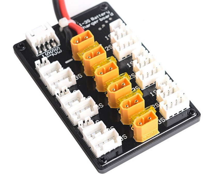 Xt30-plug Parallel Li-po Charging Adaptor Board for 1S 2S 3S LiPo Batteries - DroneRacingParts.com