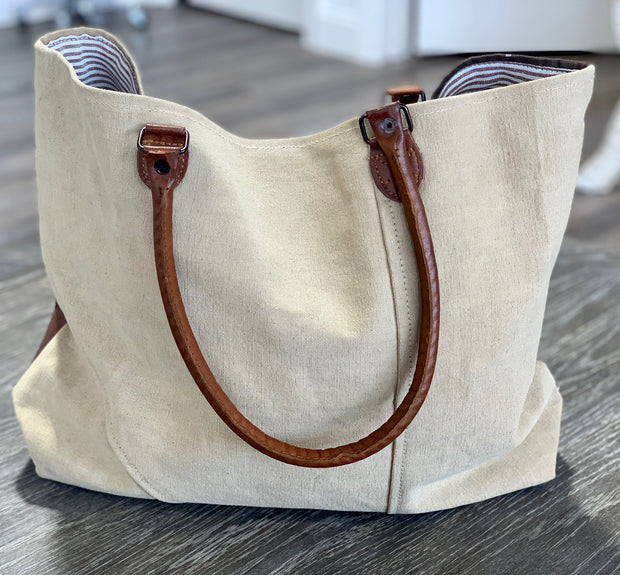 Leather ABC Tote