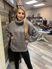 Grey Chunky Cable Knit
