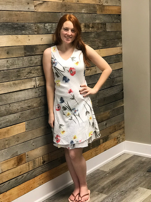 Woven Floral Dress