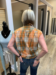 Large Sleeveless Flannel