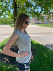 Heather Grey Sleeveless Tunic