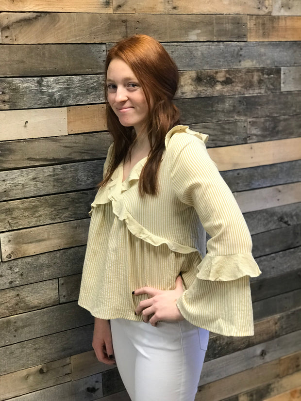 Dusty Mustard Ruffles