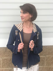Navy Contrast Jacket