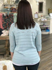 Blue Bell Dropped Shoulder Pointelle Top