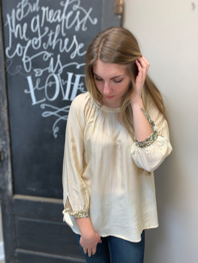 Striped Raglan Blouse