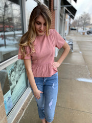 Coral Back Tied Top