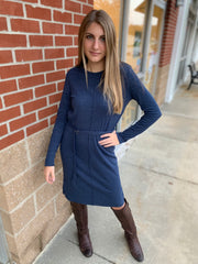 Navy Tie Dress