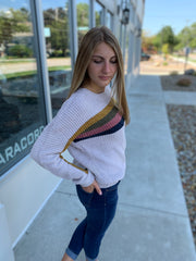 Color Block Pointed Sweater