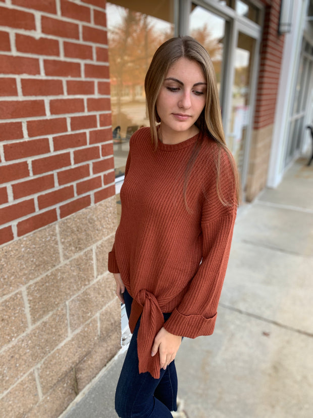 Round Neck Knit Sweater Top