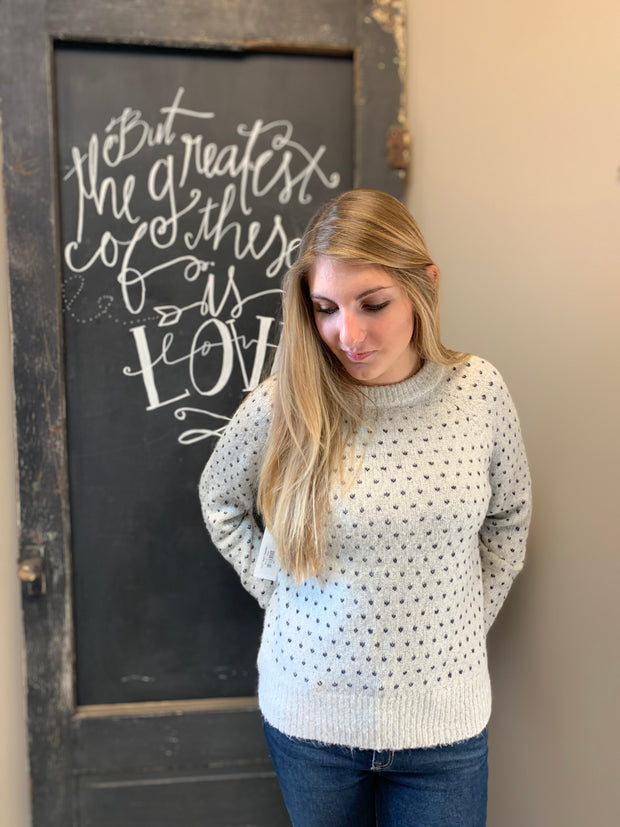 Ivory Heart Sweater