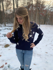 Navy Star Sweater