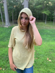 Mustard Hooded Top