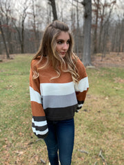 Camel Color Block Sweater