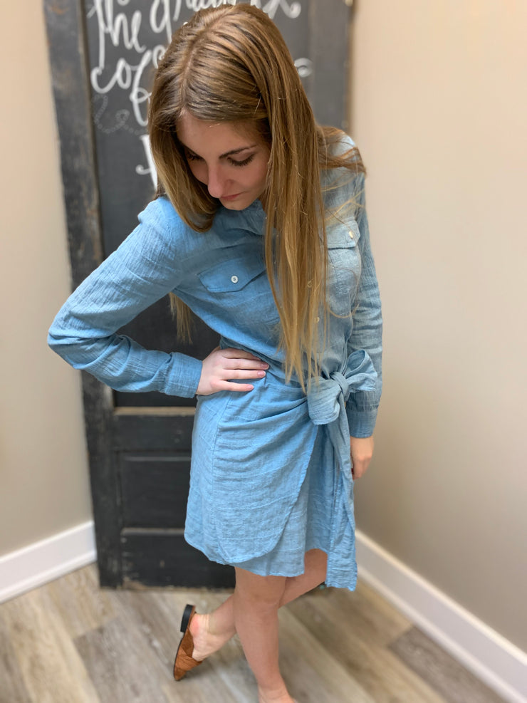 Demin Blue Shirt Dress