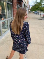 Floral Side Tie Dress