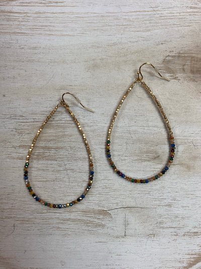 Multi Color Sparkle Drop Earrings