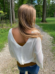 V Neck Sweater Top