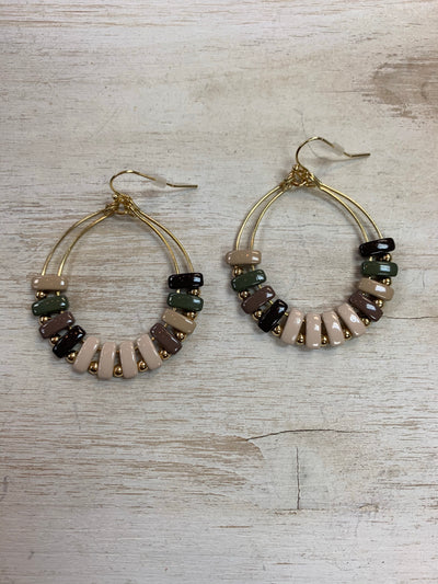 Natural Tones Drop Earrings