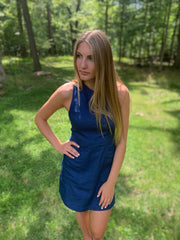 Denim Slit Dress