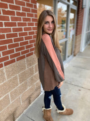 Color Mixed Woven Top