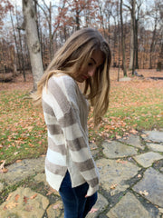 Back Striped Sweater