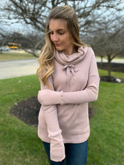 Almond Cowl Neck Pullover