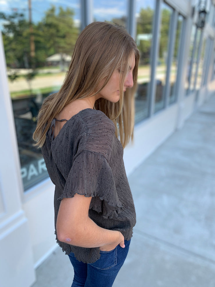 Flutter Sleeves Top